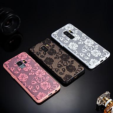 povoljno Maske/futrole za Galaxy S seriju-Θήκη Za Samsung Galaxy S9 / S9 Plus / S8 Plus Mutno / Translucent / Reljefni uzorak Stražnja maska Čipka Ispis Tvrdo Opeka