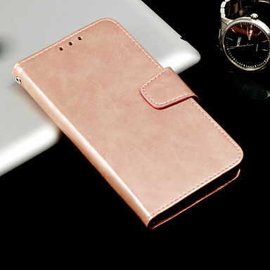 cheap Galaxy A5 Cases / Covers-Case For Samsung Galaxy A3(2017) / A5(2017) / A8 2018 Wallet / Card Holder / Flip Full Body Cases Solid Colored Hard PU Leather