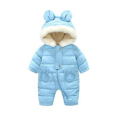 povoljno Odjeća za bebe Za dječake-Dijete Dječaci Osnovni Dnevno Jednobojni Dugih rukava Jednodijelno Plava / Dijete koje je tek prohodalo