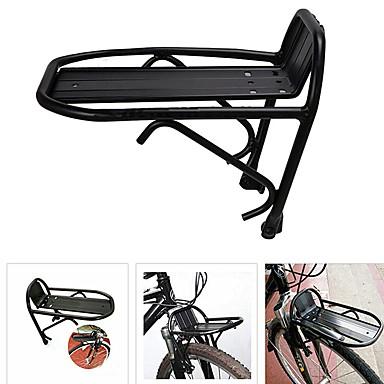 olcso Első és hátsócsomagtartók-Kerékpár rakománytartó Állítható Könnyű Könnyű felhelyezés Aluminum Alloy Treking bicikli Mountain bike összecsukható kerékpár - Fekete