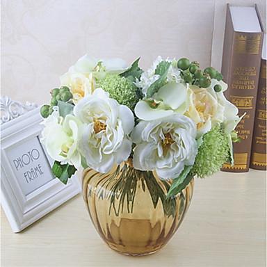 Konstgjorda blommor 8.0 Gren Klassisk Enkel Stilig Pastoral Stil Roser Hortensior Bordsblomma