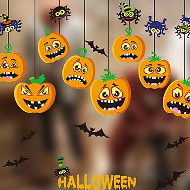 فيلم نافذة وملصقات زخرفة فني / ريترو / معاصر / Halloween هندسي / عطلة PVC ملصق النافذة