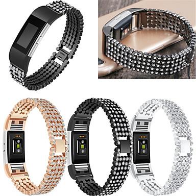 رخيصةأون أساور ساعات FitBit-حزام إلى Fitbit Charge 2 فيتبيت عصابة الرياضة / تصميم المجوهرات ستانلس ستيل / خزفي شريط المعصم