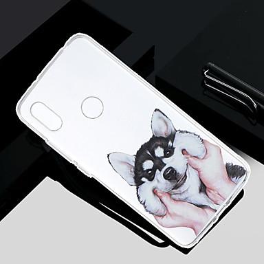 Недорогие Чехлы и кейсы для Xiaomi-Кейс для Назначение Xiaomi Redmi Note 5A / Xiaomi Redmi Note 4X / Xiaomi Redmi Note 4 Прозрачный / Полупрозрачный / С узором Кейс на заднюю панель С собакой Мягкий ТПУ / Xiaomi Redmi 4a