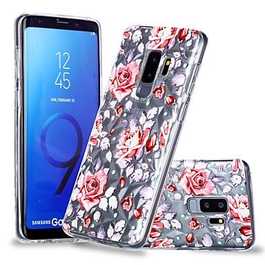 غطاء من أجل Samsung Galaxy S9 / S9 Plus / S8 Plus شفاف / نموذج غطاء خلفي زهور ناعم TPU