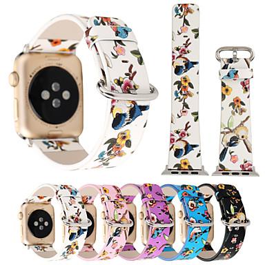 voordelige Smartwatch-accessoires-Horlogeband voor Apple Watch Series 5/4/3/2/1 Apple Leren lus Gewatteerd PU-leer / Echt leer Polsband