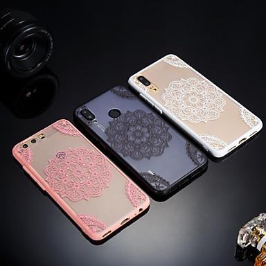 غطاء من أجل Huawei Huawei P20 / Huawei P20 Pro / Huawei P20 lite مثلج / شبه شفّاف / مطرز غطاء خلفي الطباعة الدانتيل قاسي أكريليك / P10 Plus / P10 Lite / P10
