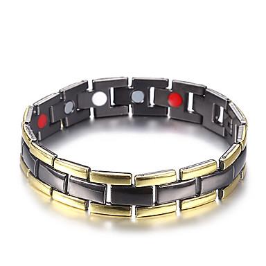 voordelige Heren Armband-Heren Hologramarmband Armband Nugget Link-armband Stijlvol Creatief modieus Casual / Sporty Modieus Koper Armband sieraden Goud / Zwart Voor Verjaardag Lahja