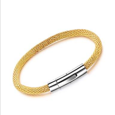رجالي أسورة ستايل مغناطيس خلاق موضة الصلب التيتانيوم مجوهرات سوار ذهبي / فضي من أجل مناسب للحفلات مناسب للبس اليومي
