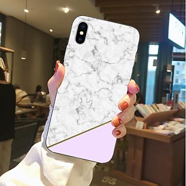 غطاء من أجل Apple iPhone X / iPhone 8 Plus / iPhone 8 شفاف / نموذج غطاء خلفي حجر كريم ناعم TPU