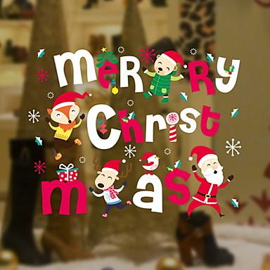 فيلم نافذة وملصقات زخرفة عيد الميلاد عطلة / شخصية PVC تصميم جديد / بديع