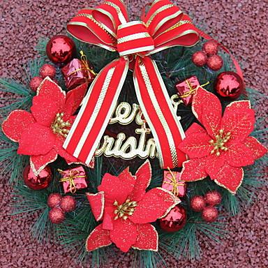 أكاليل / عيد الميلاد الحلي عطلة بلاستيك دائري حداثة زينة عيد الميلاد
