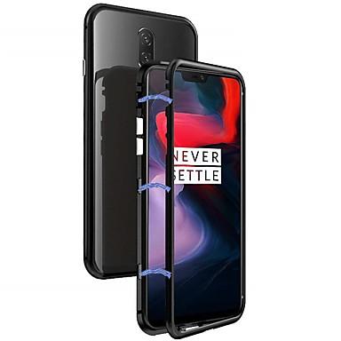 غطاء من أجل OnePlus OnePlus 6 ضد الصدمات / مغناطيس غطاء خلفي لون سادة قاسي معدن
