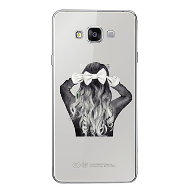 voordelige Galaxy A-serie hoesjes / covers-hoesje Voor Samsung Galaxy A3 (2017) / A5 (2017) / A7 (2017) Patroon Achterkant Sexy dame Zacht TPU