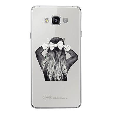 رخيصةأون حافظات / جرابات هواتف جالكسي A-غطاء من أجل Samsung Galaxy A3 (2017) / A5 (2017) / A7 (2017) نموذج غطاء خلفي امرآة مثيرة ناعم TPU