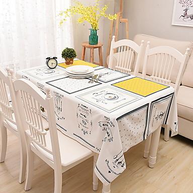 معاصر قطن مربع قماش الطاولة هندسي الجدول ديكورات 1 pcs