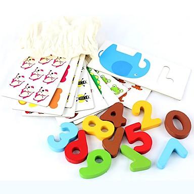 olcso Math játékok-Feljlesztő kártyajátékok fa Fa / Kartonpapír Összes Gyerekek / Gyermek Ajándék 1 pcs