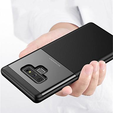 Недорогие Чехлы и кейсы для Galaxy Note-Кейс для Назначение SSamsung Galaxy Note 9 Рельефный Кейс на заднюю панель Однотонный Твердый ПК