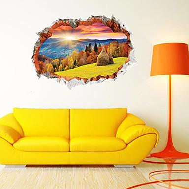 لواصق حائط مزخرفة - لواصق / ملصقات الحائط الحيوان مناظر طبيعية غرفة الجلوس / غرفة النوم / دورة المياه