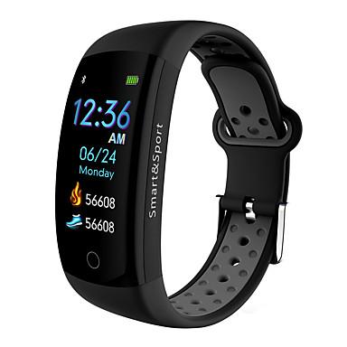Q6 الموالية ساعة ذكية BT 4.0 منحني شاشة اللياقة البدنية تعقب دعم إعلام ومعصمه الرياضة للماء لالروبوت آند أبل