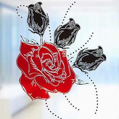 فيلم نافذة وملصقات زخرفة زهري / بسيط وردة PVC تصميم جديد
