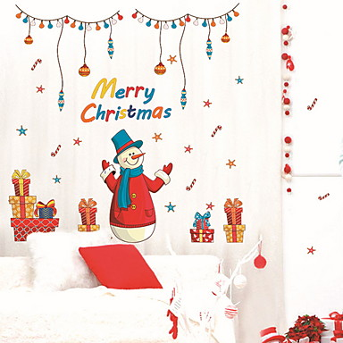 فيلم نافذة وملصقات زخرفة عيد الميلاد عطلة PVC ملصق النافذة / بدون لمعة / شوب / مقهى