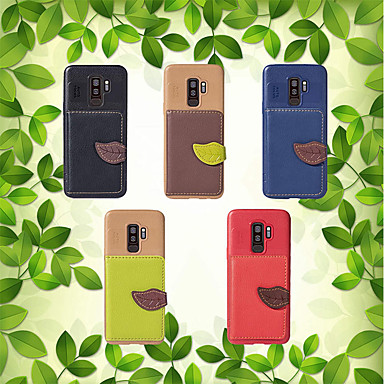 غطاء من أجل Samsung Galaxy S9 / S8 / S7 edge حامل البطاقات / مع حامل / قلب غطاء خلفي النباتات قاسي جلد PU