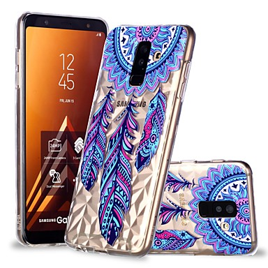 voordelige Galaxy A-serie hoesjes / covers-hoesje Voor Samsung Galaxy A6 (2018) / A6+ (2018) / A8 2018 Transparant / Patroon Achterkant Dromenvanger Zacht TPU