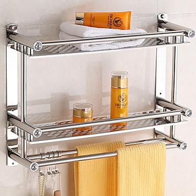 رف الحمام تصميم جديد / كوول معاصر الفولاذ المقاوم للصدأ 1PC مثبت على الحائط