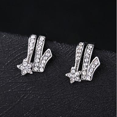 olcso Fülgyűrűk-Női Klipszes fülbevalók Fül Mandzsetta Klasszikus Romantikus Fülbevaló Ékszerek Ezüst Kompatibilitás Napi Fesztivál 1 pár