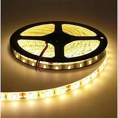 HKV 5m شرائط قابلة للانثناء لأضواء LED 300 المصابيح SMD5630 أبيض دافئ / أبيض كول قابل للقص / قابلة للربط / اللصق التلقي 12 V 1PC