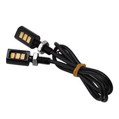 Недорогие Фары для мотоциклов-2pcs Проводное подключение Мотоцикл / Автомобиль Лампы 3 W SMD 5630 3 Светодиодная лампа Фары дневного света / Подсветка для номерного знака / Лампа поворотного сигнала Назначение