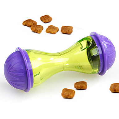 كلاب قطط مغذيات / تخزين المواد الغذائية 0.08 L بلاستيك مدرب الخارج السفر لون سادة أصفر السلطانيات والتغذية