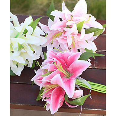 زهور اصطناعية 11 فرع كلاسيكي فردي أنيق النمط الرعوي الزنابق أزهار الطاولة