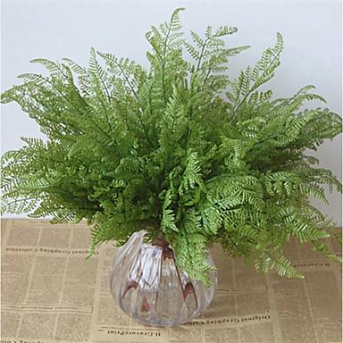 زهور اصطناعية 1 فرع كلاسيكي فردي أنيق النمط الرعوي نباتات أزهار الطاولة