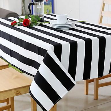 معاصر قطن مربع قماش الطاولة مخطط الجدول ديكورات 1 pcs