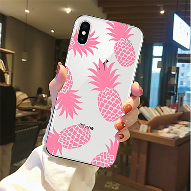 voordelige iPhone 6 hoesjes-hoesje Voor Apple iPhone X / iPhone 8 Plus / iPhone 8 Transparant / Patroon Achterkant Voedsel / Fruit Zacht TPU