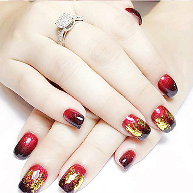 12pcs mixed color foil nail art decoration golden silver colorful ...