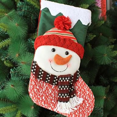 جوارب عيد الميلاد عطلة نسيج القطن مربع حداثة زينة عيد الميلاد