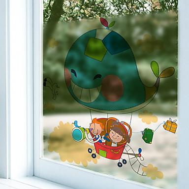 فيلم نافذة وملصقات زخرفة العادي / منقوشة شخصية PVC جميل