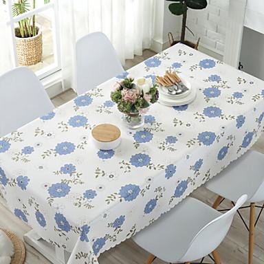 زهري PVC مربع قماش الطاولة طبع الجدول ديكورات 1 pcs