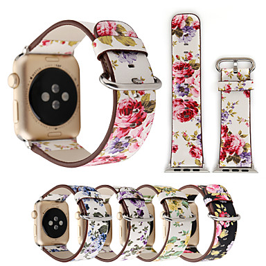 halpa Apple Watch-hihnat-Watch Band varten Apple Watch -sarja 5/4/3/2/1 Apple Perinteinen solki Tikattu tekonahka Rannehihna