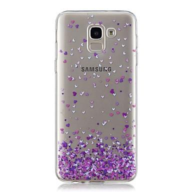 voordelige Galaxy J-serie hoesjes / covers-hoesje Voor Samsung Galaxy J7 (2017) / J6 / J5 (2017) Transparant / Patroon Achterkant Hart Zacht TPU