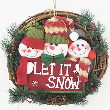 عيد الميلاد الحلي عطلة نسيج القطن دائري كارتون / حداثة زينة عيد الميلاد