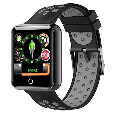 BoZhuo q18 الرجال النساء سوار الذكية Android iOS بلوتوث ضد الماء رصد معدل ضربات القلب أصفر فاتح رياضات رمادي داكن المشي عداد الخطى تذكرة بالاتصال متتبع النوم تذكير المستقرة / أجد هاتفي / ساعة منبهة