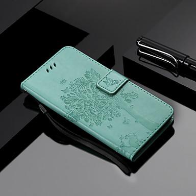 povoljno Maske za mobitele-Θήκη Za LG LG X Power 2 / LG X Power3 / LG X Power Novčanik / Utor za kartice / sa stalkom Korice Mačka / drvo PU koža