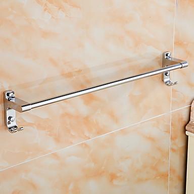 قضيب المنشفة متعددة الوظائف معاصر الفولاذ المقاوم للصدأ / الحديد 1PC فردي مثبت على الحائط