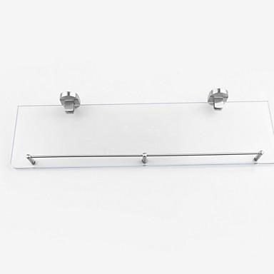 رف الحمام تصميم جديد / كوول معاصر زجاج / الفولاذ المقاوم للصدأ / الحديد 1PC مثبت على الحائط