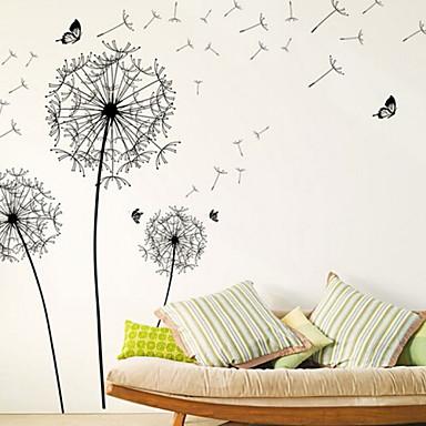 لواصق حائط مزخرفة - لواصق حائط الطائرة الأزهار / النباتية غرفة النوم