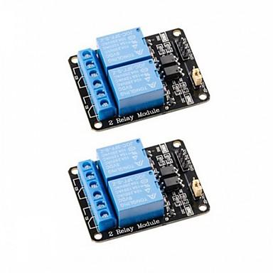 2 قطع 2 قناة dc 5 فولت تتابع وحدة مع optocoupler مستوى منخفض الزناد التوسع مجلس لاردوينو uno r3 ميجا 2560